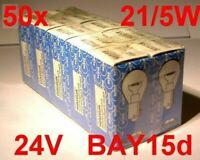50x Narva Glühlampen 5W 21W BAY15d P21/5W 21/5W 2B1 24V Birne Lampe LKW Trecker