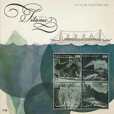 Liberia 2012 MNH RMS Titanic 100 Year Anniversary 4v M/S Ships Boats Stamps