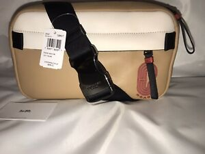 New Coach New York Leather Edge Belt Travel Pack Bag Large Latte MSRP $298.00