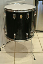 "1980's LUDWIG CHICAGO USA 16"" CLASSIC BLACK FLOOR TOM for YOUR DRUM SET! LOT E42"