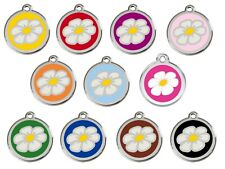 RED DINGO DAISY Engraved Dog / Cat ID identity Tags / discs. ALL COLOURS (1DA)