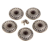 5pcs Turquoise Rivets Decoration Clasp Screwback Buttons DIY Leather Crafts
