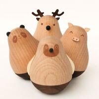 Stehaufmännchen Holz Tier Tumbler Spielzeug Stehaufpuppe Stehaufffigur