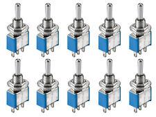 10x Kippschalter Umschalter Hebelschalter Miniatur Schalter Ein / Aus / Ein