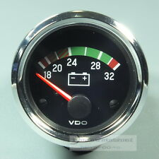 VDO Voltmeter instrumento * Chrome Edition * gauge 24v 52mm cabina Int.