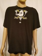 Rare Majestic Anaheim Mighty Ducks NHL T-shirt Black Mens Size 2X XXL Hockey