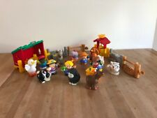 Fischer Price vintage Little People, assorted people, stable, well and animals
