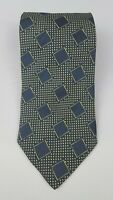 Giorgio Armani Pure Silk NecktieTie Navy Blue/Yellow (B1023)