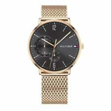 Tommy Hilfiger Rose Gold-Tone Mesh Mens Watch 1791506