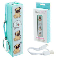 Puckator CHAR01 Portable USB Charger Power Bank Keyring - Pugs & Kisses