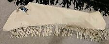 Hobby Horse cream vanilla ultrasuede fringed chaps size youth M