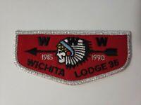 Boy Scout OA 35 Wichita Lodge OA 75th Anniversary F4 Flap