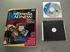 Vintage M/media Madness CD ROM,Floppy disk,book,Nautilus,MSoft AVI,WinJammer.
