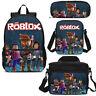 Anime Roblox Print Kids School Backpack Lunchbox Messenger Bag Pen Case Gift Lot