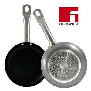 Set 2pc Sartenes Aluminio Prensado Bergner Professional Chef Platinum 20+24cm