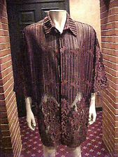 Nwt Mens Creme De Silk Short Sleeve Heavy Sheer Shirt Or Beach Cover 3Xlg.