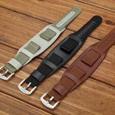18 20 22 24mm Army Military Nylon Wrist Watch Band Strap Stainless Steel Buckle