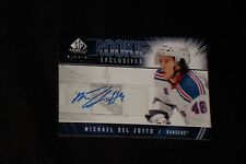 MICHAEL DEL ZOTTO 2009-10 SP GAME USED CERTIFIED AUTHENTIC SIGNED AUTOGRAPH CARD