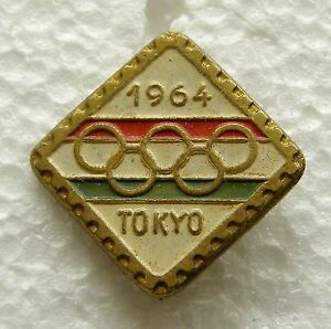 f858 Japan 1964 Tokyo Summer Olympic Games pin – Ski bob Sledge