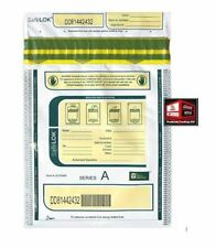 New, ControlTek 9 x 12 SafeLok Security Bags, White, 5 packs of 100 *C-9.3oc1*