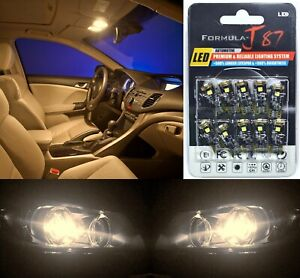 Canbus Error LED Light 168 Warm White Ten Bulbs Interior Dome Replacement Stock