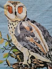Vintage Owl Tapestry Embroidery Bird Nest Picture