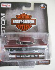 `57 Chevrolet Bel Air  Custom 1957 **MAISTO Harley Davidson ltd. 1:64 OVP