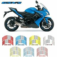 12 pcs fit Motorcycle Wheel Sticker Strip Reflective Rim For suzuki GSX-S