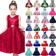 Baby Girl Kids Floral Dress Party Wedding Bridesmaid Princess Sun Dresses Summer