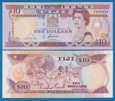 FIJI 10 Dollars P 94 ( ND 1992 ) UNC Low Shipping! Combine FREE! (P-94a)