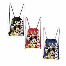 3 pcs Disney Mickey & Friends Drawstring Backpack Child Sling Gym Bag 100% HAPPY