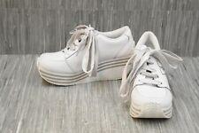 Volatile Cash Leather Wedge Fashion Sneakers, Women's Size 10, White