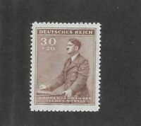 MNH Stamp 30+20 Hal / 1942 Third Reich / Adolph Hitler Birthday / WWII Germany