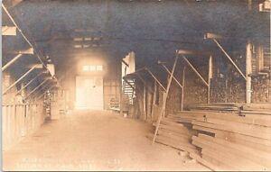 RPPC Williston ND Missouri River Lumber Co. Interior View early 1900s