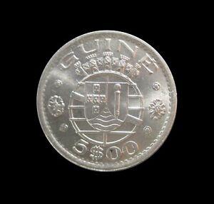 PORTUGUESE GUINEA BISSAU 5 ESCUDOS UNC 1973 KM 15 #113#