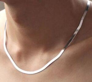 925 Silber Halskette Damen Halsketten Schlangen Link Kette Choker Silber 45 cm