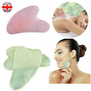 Genuine Gua Sha Facial Massage Anti-Ageing rose quartz jade face Slimming Tools