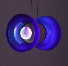 Blue 5 Bearing Diabolo lighting + Diablo Sticks & Peking Opera style bag