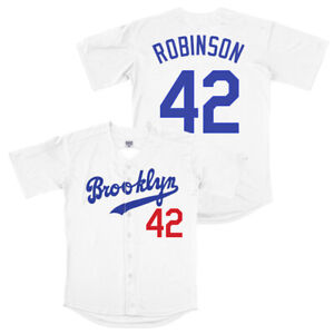 Jackie Robinson #42 Brooklyn Dodgers Baseball Jersey Stitched Men 2XL
