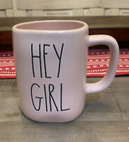 Rae Dunn By Magenta - LL HEY GIRL - Pink Ceramic Coffee Mug