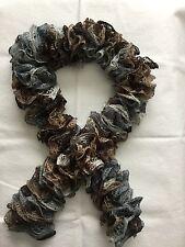 Handmade multi-color Sashay rufle scarf