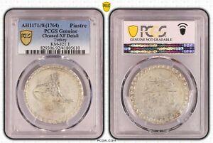 AU Details PCGS Kurus 1764 (8) Ottoman (Turkey) Silver Coin Mustafa III # 321.1