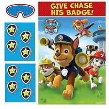 PAW PATROL PARTY GAME - PIN THE BADGE ON CHASE - FOR 2-8 PLAYERS PARTY SUPPLIES