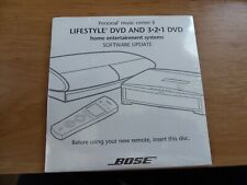 Bose Lifestyle DVD & 3-2-1 DVD home entertainment Software Update disc