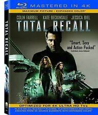 TOTAL RECALL (Colin Farell) (Mastered in 4K)  - BLU RAY - Sealed Region free
