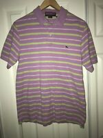 Vineyard Vines Mens Polo Shirt Sz Small Pima Cotton S/S Purple Striped C26