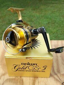 Vintage DAIWA Gold GS-3 Skirted Spool Spinning Fishing Reel w/ Original Box