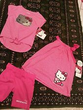 NWT $68 Girls HELLO KITTY 3 piece lot  3T tunic top t-shirt w/ sequins & shorts