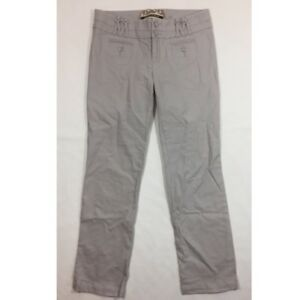 ANTHROPOLOGIE Daughters Of The Liberation Pants Size 8 Gray Straight Leg