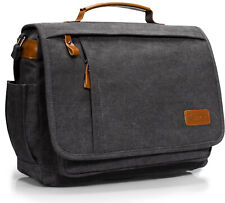 Estarer 17.3 inch Laptop Messenger Bag,Mens Water Resistant Canvas Satchel Bag